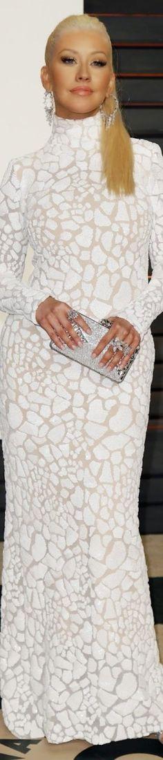 Christina Aguilera 2015 Vanity Fair Oscar Party | The House of Beccaria~