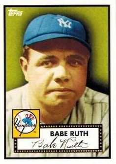 1923 Babe Ruth Replica Card in 1952 Topps Design from the Topps 27 Time World Championship Set in MINT Condition ! Yankees Hall of Famer !! by Topps. $11.99. Wowzzer! What a Amazing New York Yankees Collectible!!  We are Very Proud to offer this 1923 Babe Ruth Replica Card in 1952 Topps Design and in MINT Condition! This Awesome Looking Card can only Be Found in the 2010 Topps 27 Time World Championship Factory Set ! It is in MINT Condition and Comes in a Top Loader...