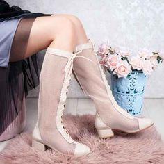 Cizme de vara dama bej Hanisia High Socks, Boots, Winter, Fashion, Crotch Boots, Winter Time, Moda, Thigh High Socks, Fashion Styles