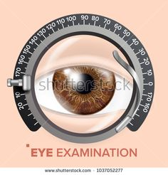 Eye Test Banner Vector. Clinic Consultation. Optometrist Check. Medical Background Illustration