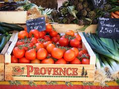 Open air market in France