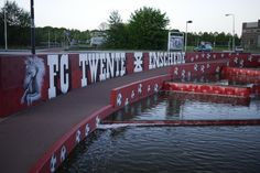Enschede is very, very serious about FC Twente's championship… At Home Workouts, Wall Murals, Holland, Amsterdam, The Good Place, Graffiti, Soccer, Challenges, Sport