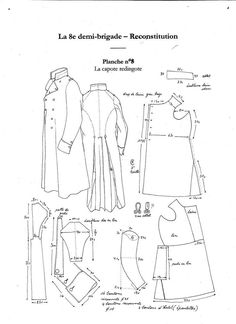 Period uniform patterns - Armchair General and HistoryNet >> The Best Forums in History Costume Patterns, Coat Patterns, Clothing Patterns, Sewing Patterns, Coat Pattern Sewing, Diy Clothing, Sewing Clothes, Vintage Patterns, Vintage Sewing