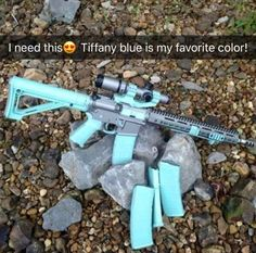 This Tiffany blue set up firearms tactical