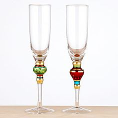 Love these. With the red and green color scheme they make the perfect Christmas gift you can then use New Year's Eve.