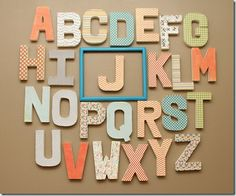 J's nursery letters via my friend @Natalie Yarbrough