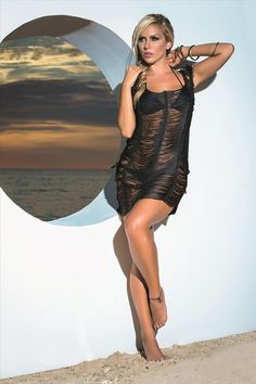 Hot and Sexy Black Fringe Style Beach Dress Cover-Up – SoHot Swimwear