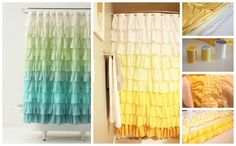 Ruffled Shower Curtain | 50 DIY Anthropologie Hacks For Every Facet Of Your Life | Ombre
