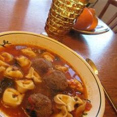 Meatball and Cheese Tortellini Soup