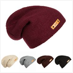 New Fashion Leather Label Decoration Hats Hip Hop Toucas Caps Men and Women Knitted Bonnet Beanies Toca Masculina Para Inverno