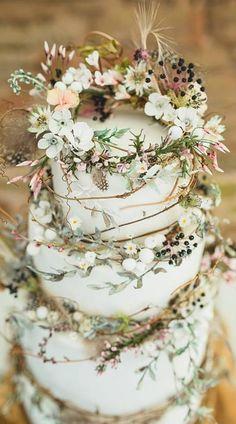 Wild and whimsical wedding cake