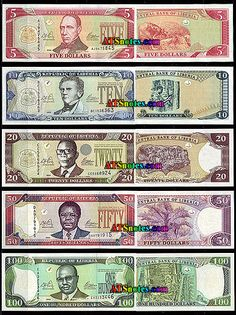 liberian money | Liberia banknotes - Liberia paper money catalog and Liberian currency ...