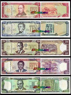 liberian money | Liberia banknotes - Liberia paper money catalog and Liberian currency ...