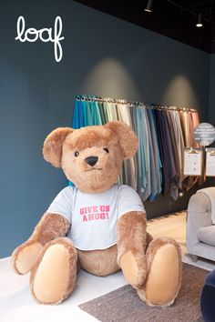 Have you met Bernie? Bernie is our resident Shack Loafer who can be spotted across all of our seven showrooms. He loves a hug so why not head on down to your nearest Shack and say hello to Bernie the bear! Furniture Showroom, Say Hello, Loafer, Hug, Teddy Bear, Bedroom, Loafers, Slipper, Bedrooms