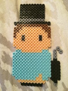 Michael, Wendy's brother from Disney's Peter Pan perler bead. Mini people