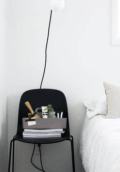 Via A Merry Mishap | Muuto Visu Chair | Black and White | Bedroom