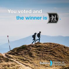 You made it happen! The Hiking Badge of Ownership is here: