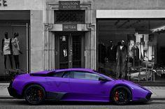 Lamborghini Murcielago LP670-4 SuperVeloce. and by the way... It's PURPLE!!!
