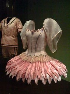 Costumes for Balanchine's Bugaku, designed by Karinska and worn by Suzanne Farrell in the 1960s. On exhibition in the Theatre and Performance Galleries at the Victoria & Albert Museum, London.