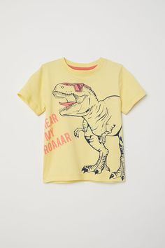 T-shirt | Natural white/Snack Time | KIDS | H&M US