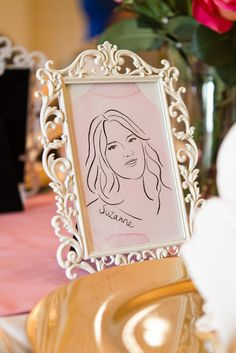 place card illustrated portrait