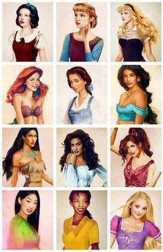 What Disney princesses would look like if they were real women. Mulan looks like my ten year old. Walt Disney, Disney Love, Disney Magic, Disney Art, Disney Girls, Disney Stuff, Disney And Dreamworks, Disney Pixar, Real Life Princesses
