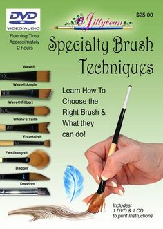 Specialty Brush Techniques - Paint along with Jillybean as she demonstrates how to use many of the Dynasty Black Gold Specialty Brushes. Includes a printable CD with 250 pages of full color instructions, patterns and color step by step photos. Painting Lessons, Painting Tips, Art Lessons, Painting Videos, Watercolor Techniques, Art Techniques, Acrylic Painting Techniques, Tole Painting, Painting & Drawing