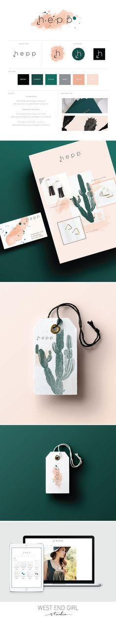 boho branding, cactus branding, bohemian design, graphic design, logo design, branding