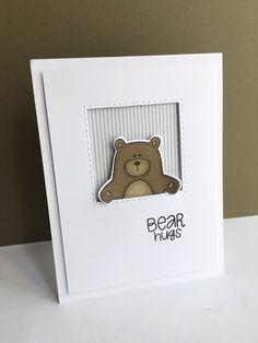I'm in Haven: Bear Hugs peek-a-boo card!