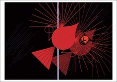 Seeing Red Notecard by Charley Harper