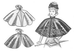 The Fashion Historian Polly Guerin: The Big Cover-Up: Cloaking Devices (c) By Polly Guerin....caplelet copre solo le spalle...