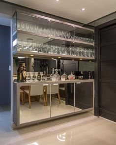 Home Bar Cabinets Home Bar Cabinet, Home, Elegant Dining Room, Dining Room Design, Home Ceiling, Home Wet Bar, Bars For Home, House Interior, Home Bar Designs