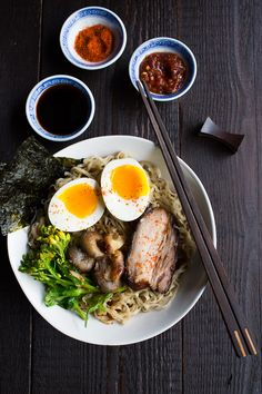 This recipe for Pork Ramen with Roasted Garlic is rich in flavor as well as texture.  Comfort food at its best.