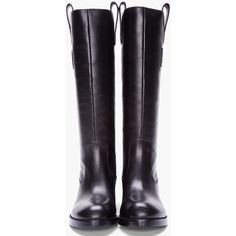MARC BY MARC JACOBS Black Leather Riding Boots ( 525) ❤ liked on Polyvore f8603306856