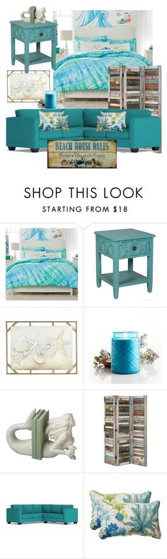 """""""Beach House Rules"""" by lstarkphoto ❤ liked on Polyvore featuring interior, interiors, interior design, home, home decor, interior decorating, PBteen, Pier 1 Imports, Dot & Bo and Pillow Perfect"""