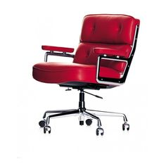 ES104 LOBBY SWIVEL CHAIR BY CHARLES EAMES (LEATHER)