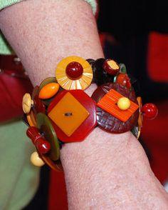 unknown artist Bakelite button bracelet