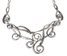 Women's Intricate Silver Plated Spiral Statement Piece Necklace by Shagwear Shagwear,http://smile.amazon.com/dp/B00BW5XLJ4/ref=cm_sw_r_pi_dp_8SRFtb023EDA8BN0