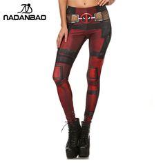 Nadanbao新しいファッション女性レギンススーパーheroデッドプールレギンスプリントレギンスための女性パンツ