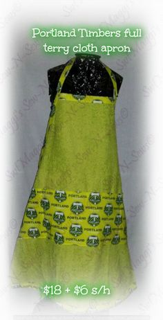 Portland Timbers Full terry-cloth apron with pockets by SwtMaggisSewnSews on Etsy