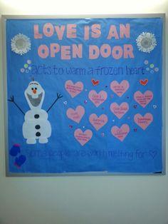 Frozen February RA Bulletin Board