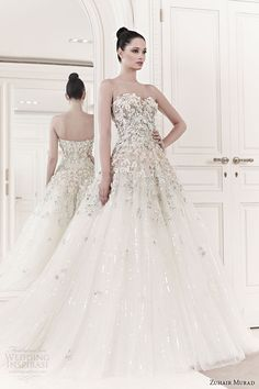 Strapless, sweetheart neckline, appliqued bodice, ball gown or princess style #wedding #dress … Wedding #ideas for brides, grooms, parents & planners https://itunes.apple.com/us/app/the-gold-wedding-planner/id498112599?ls=1=8 … plus how to organise an entire wedding, within ANY budget ♥ The Gold Wedding Planner iPhone #App ♥ http://pinterest.com/groomsandbrides/boards/  for more #wedding #gowns