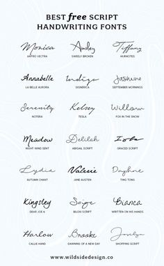 To save you time and effort, I've put together a list of my favorite script handwriting fonts that are completely free. Pretty, casual and authentic… The post Best Free Script Handwriting Fonts appeared first on Garden ideas. Mini Tattoos, New Tattoos, Body Art Tattoos, Cool Tattoos, Tatoos, Finger Tattoos, Kid Name Tattoos, Tattoo Kids Names, Kids Initial Tattoos