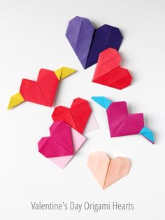 Valentines Day Crafts DIY: 3 ways to make origami hearts