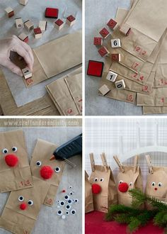 Reindeer advent calendar - by Craft & Creativity                                                                                                                                                                                 More