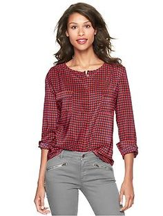 Printed double-pocket top   Gap in Black and White, Red, and White - $54.95 - plus 35% regular priced items!