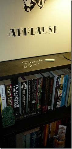 Another to do - DONE!    Black board bookshelf!  :-)