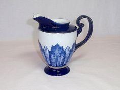 Vase Pitcher Cobalt Blue BOMBAY Asian Decor by twocheekychicks, $24.50