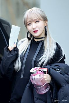 she look like a beautiful goth chick Kpop Girl Groups, Korean Girl Groups, Kpop Girls, Ahn Hani, Rap, I Love Girls, Korean Celebrities, Korean Wave, Ulzzang Girl