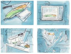 How to Microwave Corn on the Cob at the Office - Canadian Business, Illustration by Graham Roumieu